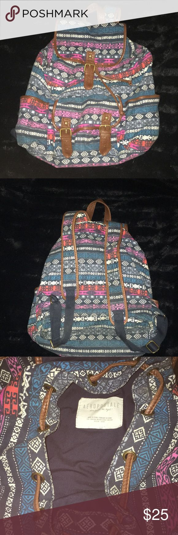 Aeropostale Aztec Bag Have had for a long time and used for a while but not recently, no signs of wear, it's in great condition!! Only noticeable thing is the color has faded just a little (I think??? Been in my closet for a year) Aeropostale Bags
