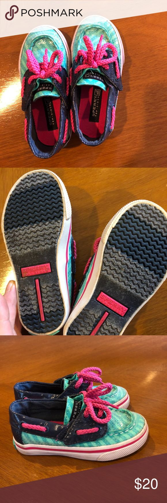 Girl Toddler Sperry Adorable!  Excellent used condition!  Worn only a few times! Sperry Shoes Sneakers