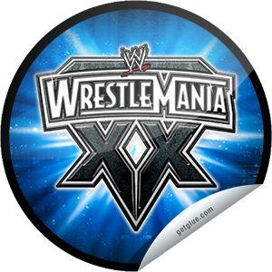 ORIGINALS BY ITALIA's WWE WrestleMania Logo Series: WrestleMania XX Sticker | GetGlue