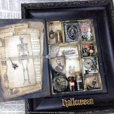 The Undertaker - Tim Holtz Mini Configurations Book Halloween - Found on Vintage Muse Designs