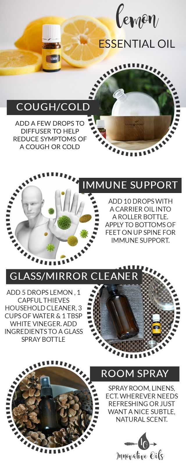 BENEFITS AND USES FOR LEMON ESSENTIAL OIL
