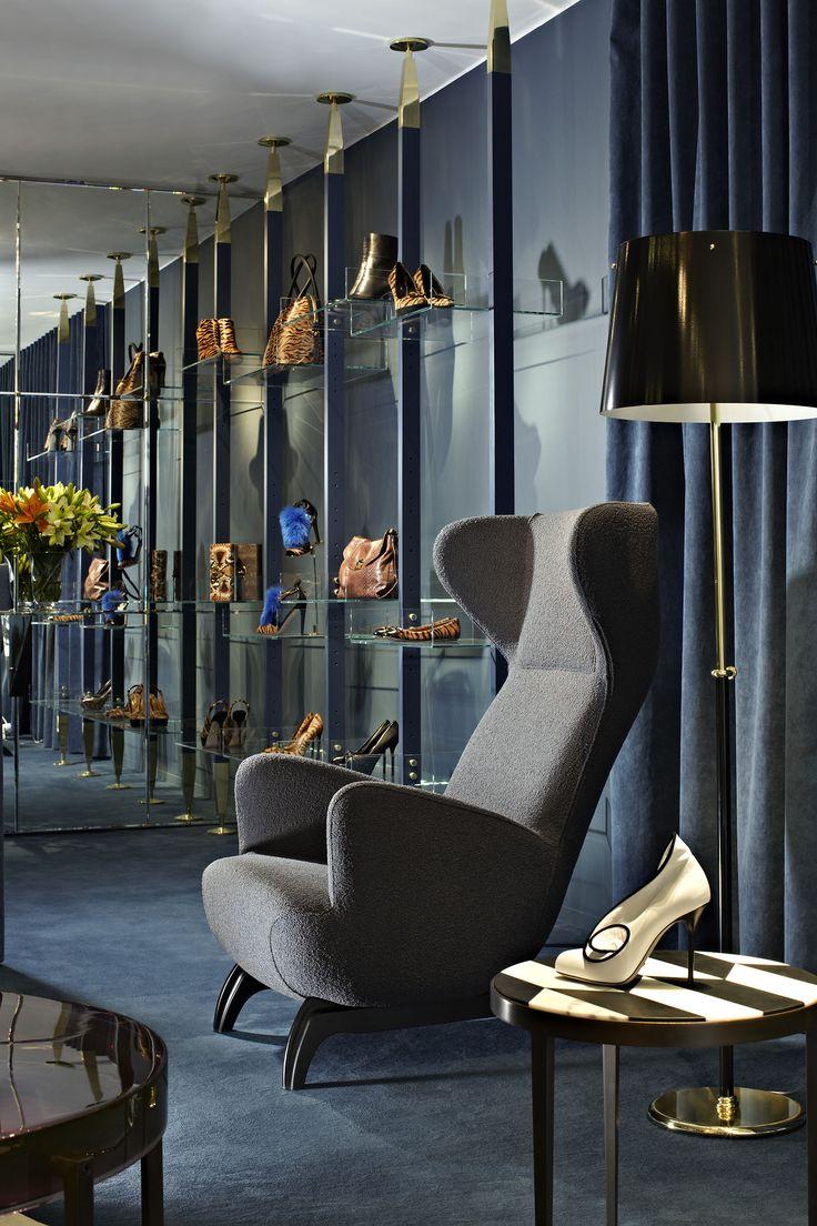 Ardea Armchair designed by Carlo Mollino :: 1944 (Zanotta) at the Sergio Rossi boutique, London