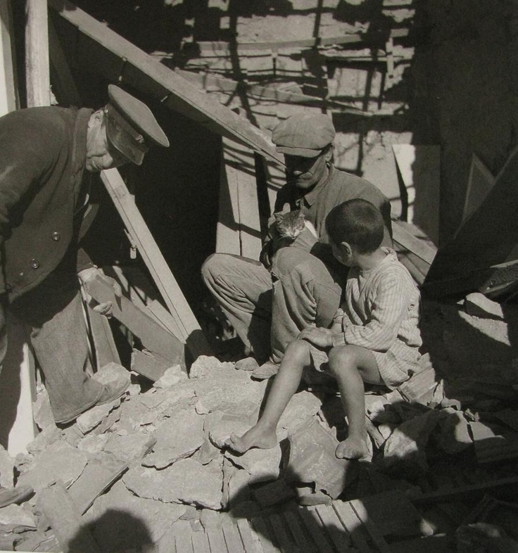 #memories [Bombardment of Piraeus (Greece), February 1941, February 1941, photo by Voula Papaioannou - Phorographic Archives of the Benaki Museum, Athens]