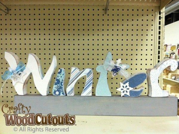 108 best displays i make for crafty wood cutouts images on winter letter set diy unfinished wood crafts sciox Images