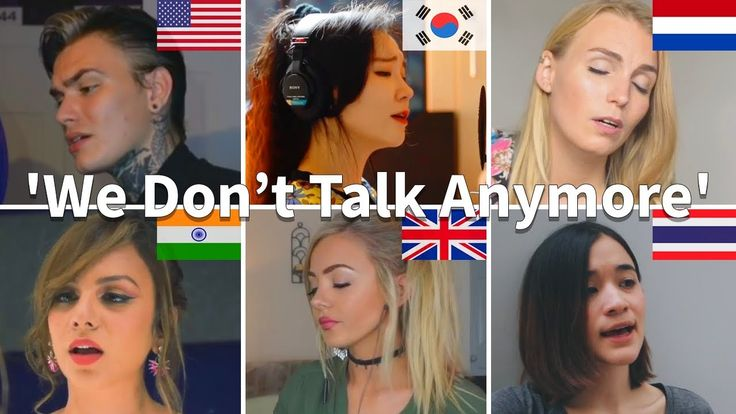 Liked on YouTube: Who Sang It Better: We Don't Talk Anymore (Netherlands South Korea Thailand India USA UK)