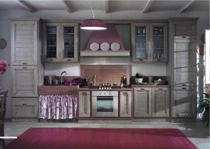 Cucina provenzale 100% in legno di Castagno