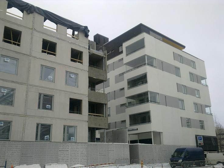 A new residential building in the center of Jyväskylä, Vapaudenkatu. Builder:YIT, Charisma Quarter