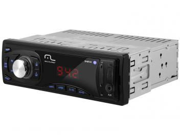 Som Automotivo Multilaser Max P3208 MP3 Player - Rádio FM Entrada USB Auxiliar/SD Card