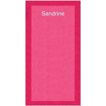 Serviette de plage personnalisée Fashionata - Rose poupepoupi.com