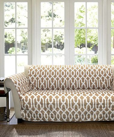 Look what I found on #zulily! Taupe Brett Sofa Protector #zulilyfinds