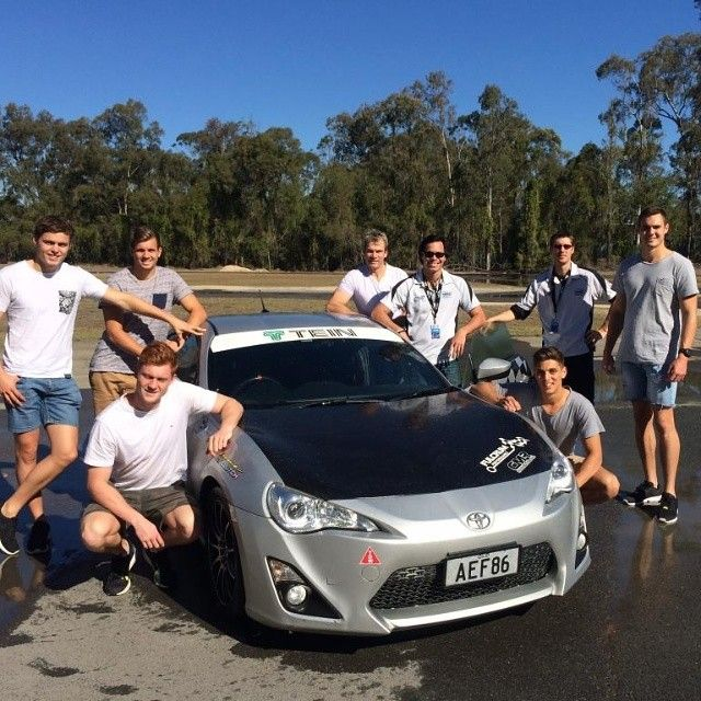 The GC SUNS welfare team coordinate an annual advanced driving course for first year players at Mount Cotton. - http://instagram.com/
