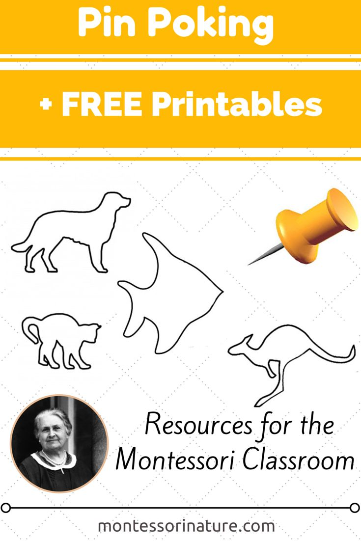 Montessori Nature: Pin Poking Activities + Free Printables. {Kids Learning Linky Party}. #montessorinatureblog #montessori #freeprintables