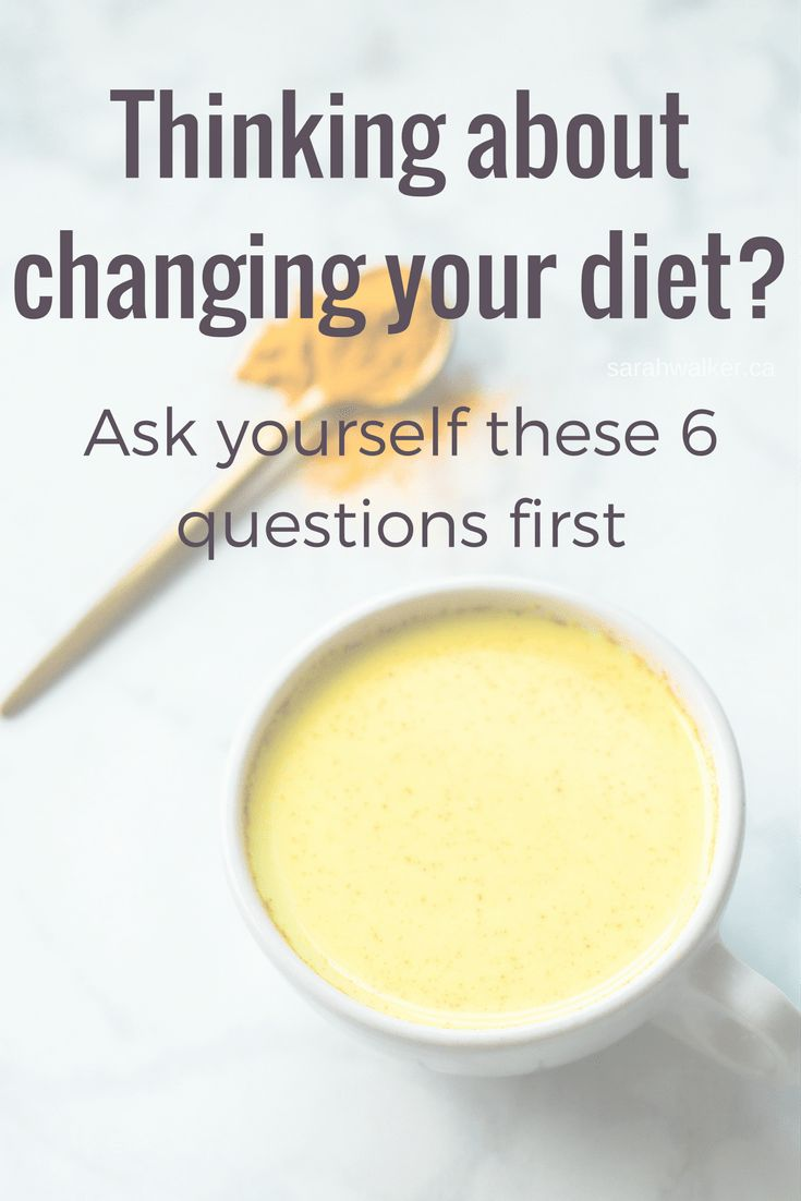 Ask yourself these 6 questions before changing the way you eat.