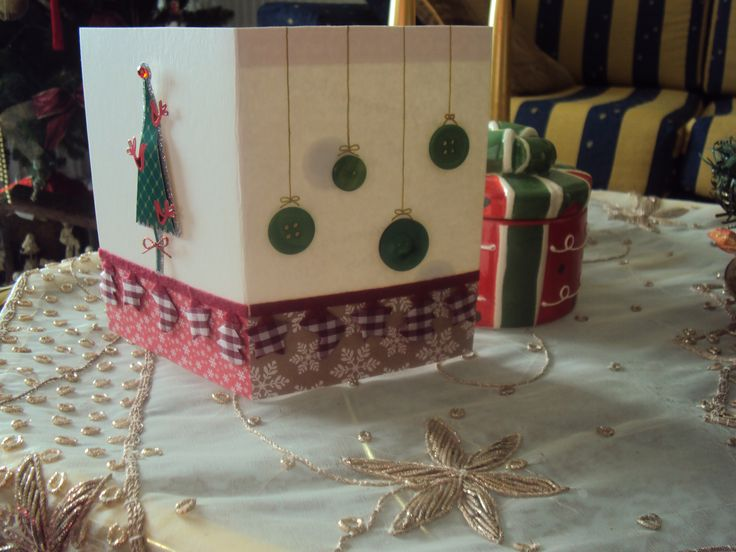 Handmade Christmas card with buttons for a very good friend!!