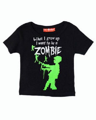 When I grow up, I want to be a zombie kids tee.