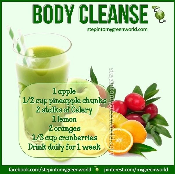 Body cleanse juice recipe.  I don't know if I can do a totally juice diet, but this may get me started.