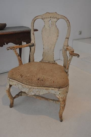 old and beautiful: rococo chair.