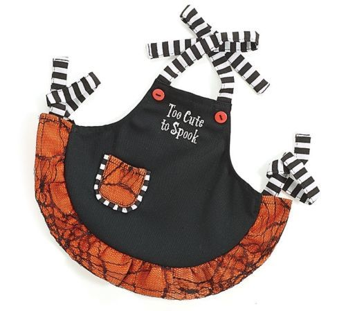 Personalized-034-Too-Cute-To-Spook-034-Child-or-matching-Doll-apron-Halloween-Apron