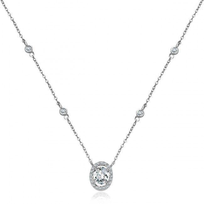 Srebrny Naszyjnik z cyrkoniami, 101 PLN, www.Bejewel.me/srebrny-naszyjnik-z-cyrkonia-1594 #jewellery #silver #bejewelme #bjwlme #shoponline #accesories #pretty #style