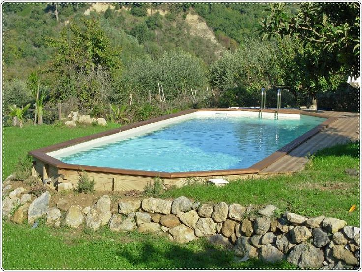 Backyard Above Ground Pools | lets play house | Pinterest