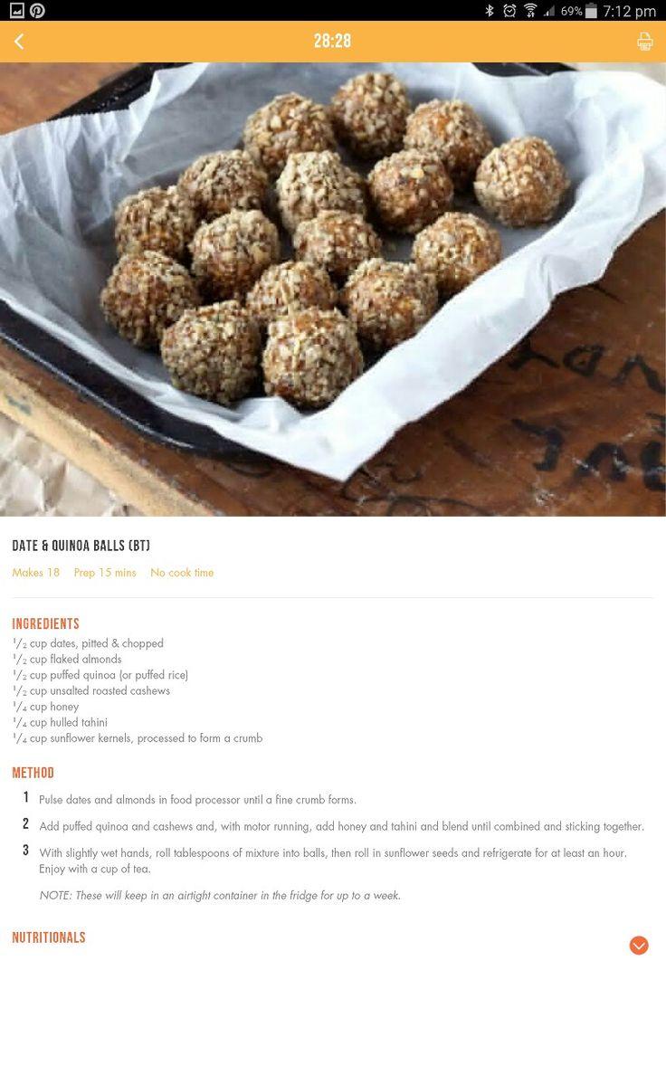 Date and quinoa balls