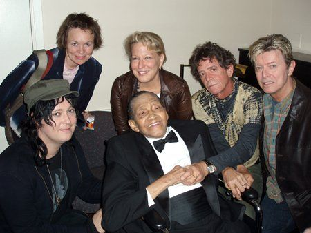"""Laurie Anderson, Bette Midler (actress), Lou Reed, David Bowie, Antony """"Anohni"""" Hegarty (Antony and The Johnson), Jimmy Scott ('angel voice'), Carnegie Hall, October 13, (2005)"""