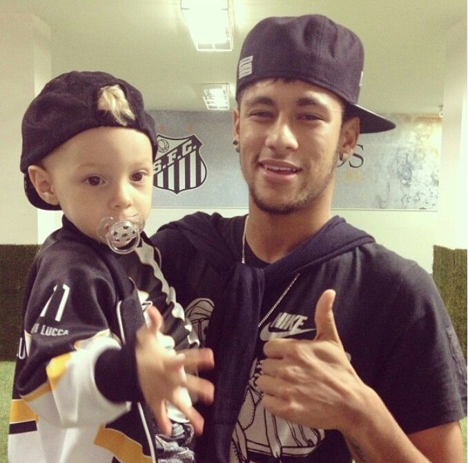 Neymar & son | People I Admire | Pinterest | Lucca, Sons ...