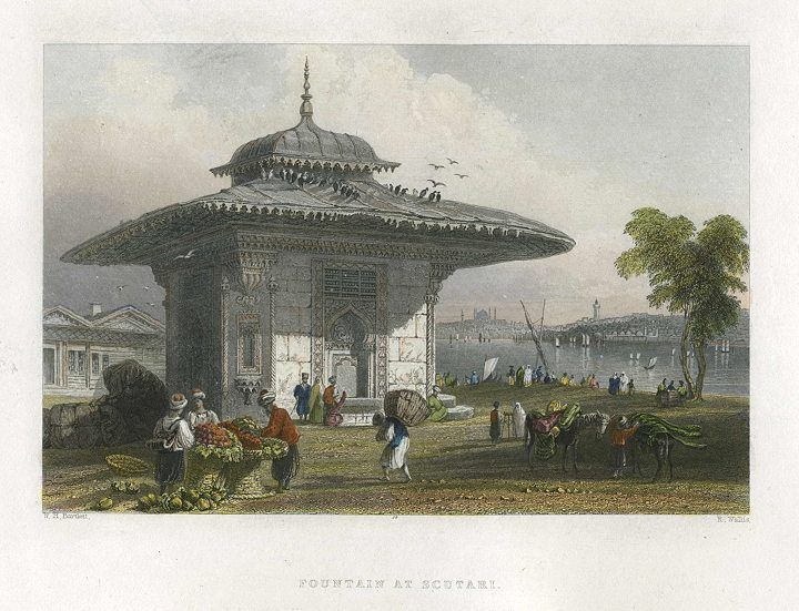 Turkey, Istanbul, Fountain at Scutari, 1838