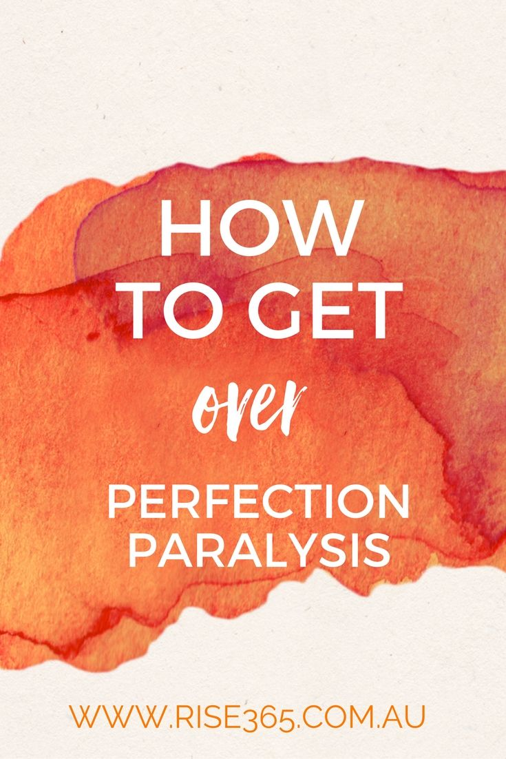 Perfection Paralysis: How to recognise it and how to overcome it. via…
