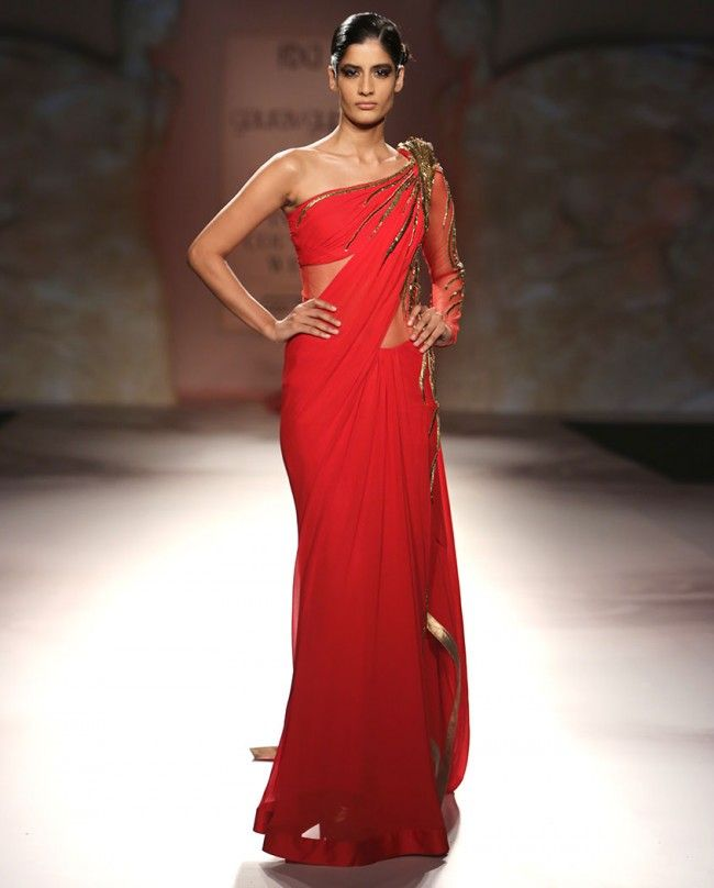 Red Sari Gown