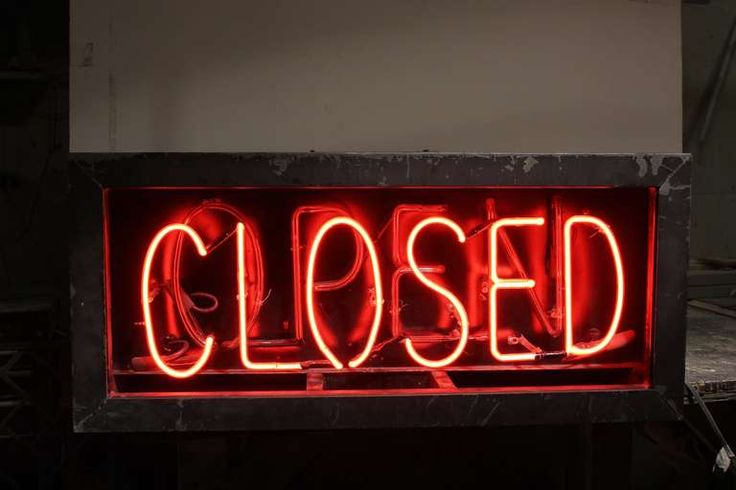 1930's Neon Open/Closed Sign For Sale at 1stdibs