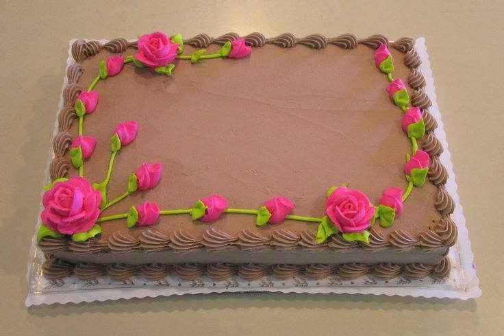 Chocolate Buttercream quarter sheet cake #wedekingsbakery