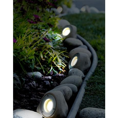 258 best landscape lighting images on pinterest landscape lighting five light rock led landscape kit style 2r771 aloadofball Choice Image