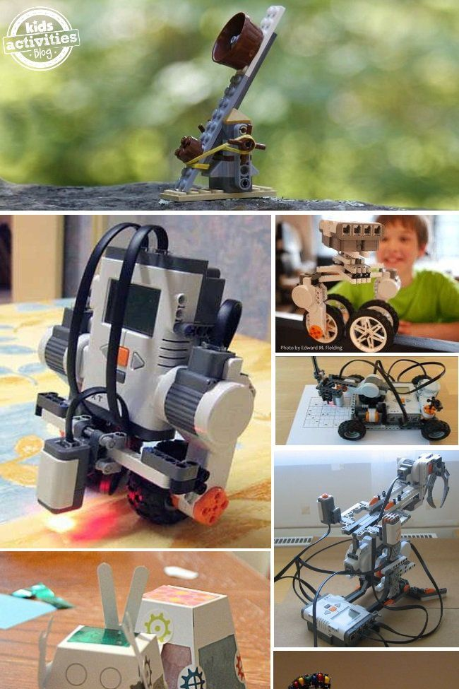 Here are 16 robots that your kids can make. Some are kits, and many use items you probably have at home already.