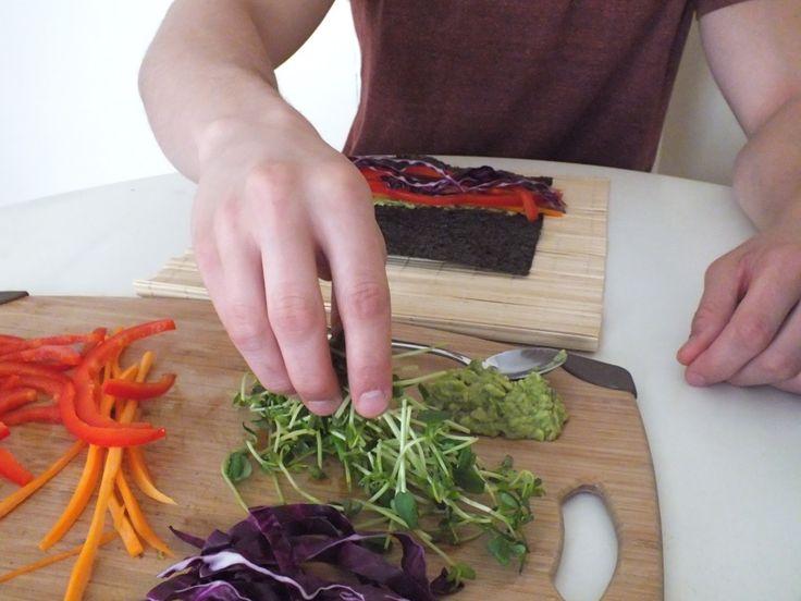 Rainbow Nori Rolls [Raw, Vegan, Vegetarian, Gluten-Free]