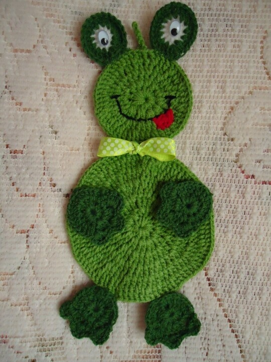 My Crochet Frog (I Have Made It My Self) Kitchen Decor