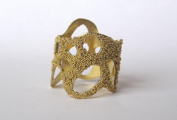 "collection ""Avatar_Vegetal"" - Alina Carp - ""Gold Inner space"" brass, microspheres"