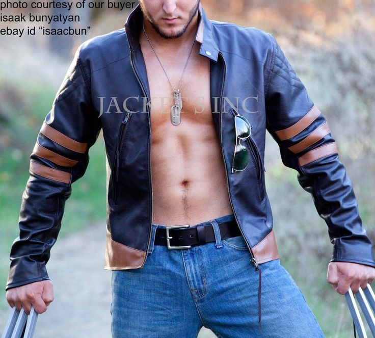 X-MEN ORIGINS LOGAN WOLVERINE BROWN LEATHER JACKET HALLOWEEN COSTUME BIKER #Unbranded #BasicJacket