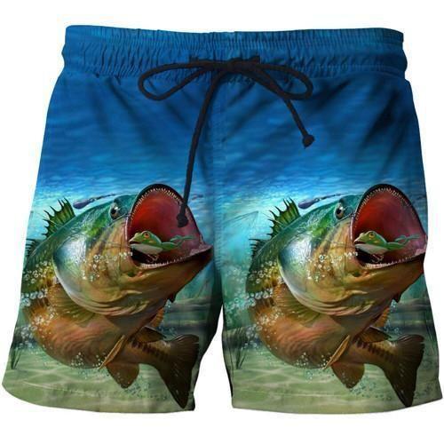 Mens Quickly Dry Summer Swim Trunks Surf 3D Funny Print Beachshorts Board Shorts