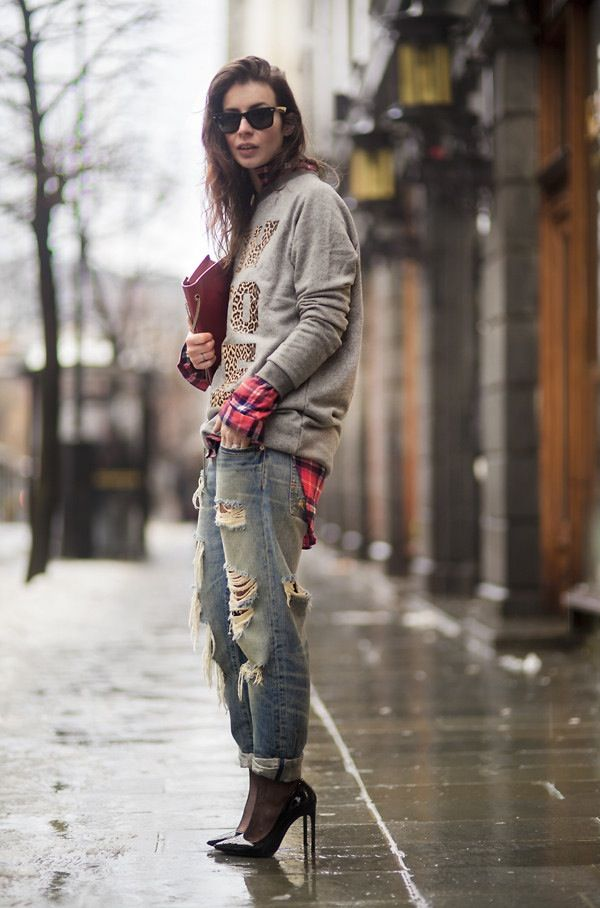 Ripped jeans remember-sheer black pantyhose under ripped jeans to wear your black heels w them jeans into fall