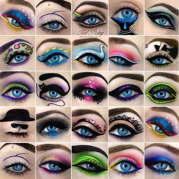 Creative eye makeup by Tal Peleg. Wow.