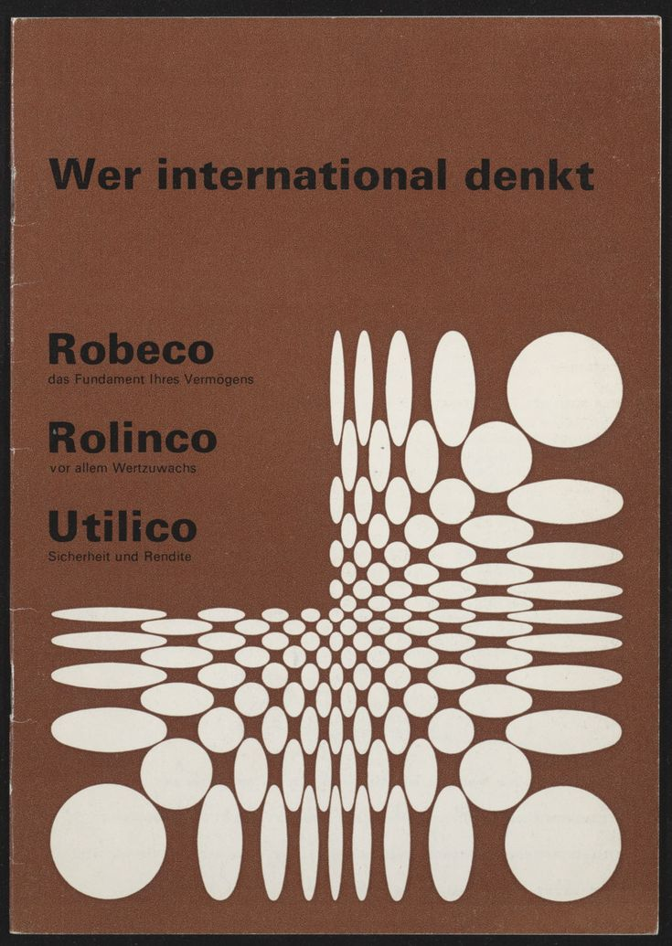 Jurriaan Schrofer - Robeco Brochure, 1973