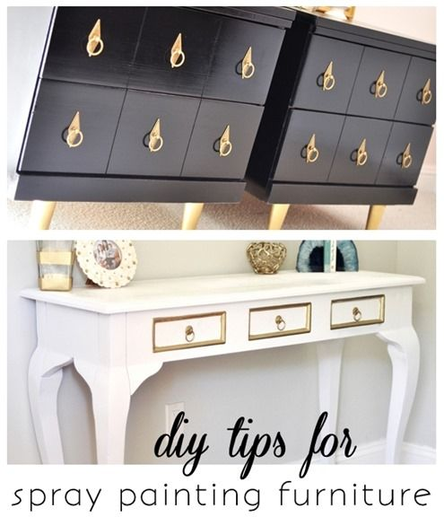 #diy tips for spray painting furniture