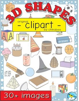 3d shape clip art shapes and reallife objects clip art