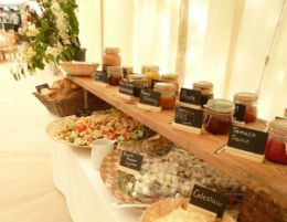 Hog Roast With Salads Great Interactive Food So That People Can Choose What They Want Wedding Breakfast Pinterest
