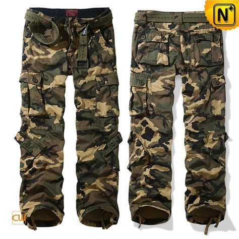 www.cwmalls.com PayPal Available (Price: $79.89) Email:sales@cwmalls.com; Loose Fit Army Green Camouflage Cargo Pants for Men CW100057 Classics casual loose fit camo cargo pants for men crafted with washed 100% cotton printed material,comfortable  army camouflage cargo pants with multi pockets and belt help you look energetic and wholesome.