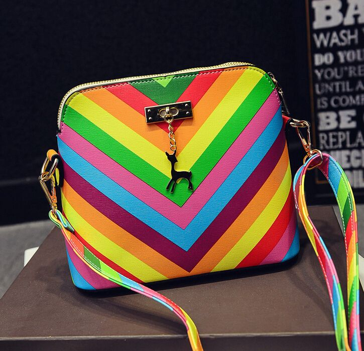 Find More Shoulder Bags Information about summer beach Famous brand exquisite fashion PU leather women handbag 2015 Rainbow shell bag ladies shoulder bag  A60 26,High Quality bag cover,China bag leopard Suppliers, Cheap bag shell from Hangzhou YHZ Technology Co., Ltd on Aliexpress.com