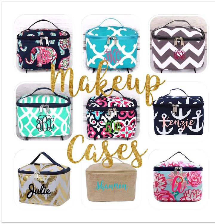 Etsy Monogrammed cosmetic case, personalized makeup case