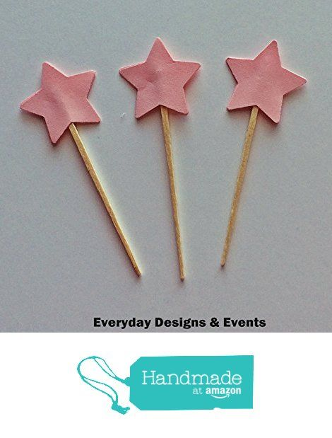 Set of 24 Star Cupcake Toppers, Pink Cupcake Toppers, Glitter Cupcake Toppers, Gold Stars, Party decoration, twinkle twinkle, little star cupcake toppers, 3 inch cupcake topper, Birthday Party from Everyday Designs and Events https://www.amazon.com/dp/B01N4NBQW6/ref=hnd_sw_r_pi_dp_jBxEyb5GB2CVR #handmadeatamazon