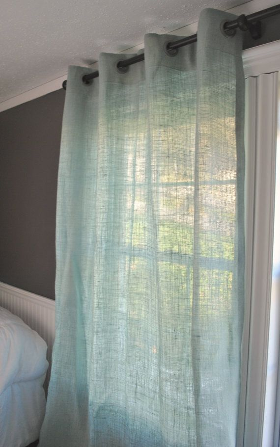 Burlap Curtain by PaulaAndErika on Etsy
